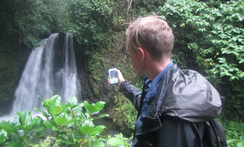 recording nature sounds waterfall